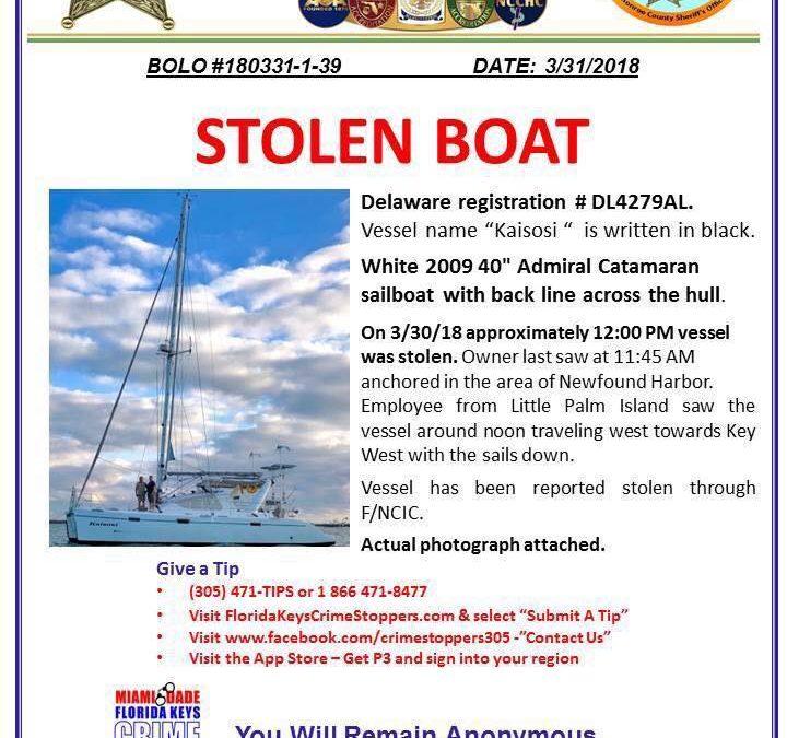 Stolen Catamaran Found in Cuba