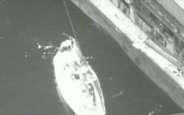 Crew 42-foot Dismasted SV Coco Haz III rescued 656 miles West of the Hawaiian Islands