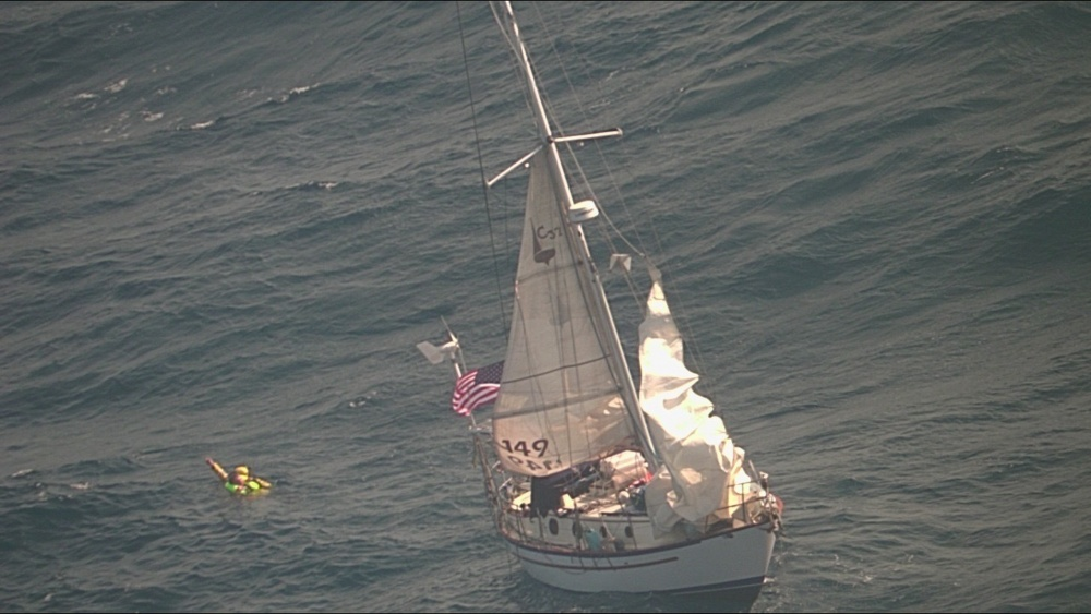 Dramatic Long-Range Rescue Of Two Sailors Gulf Of Mexico