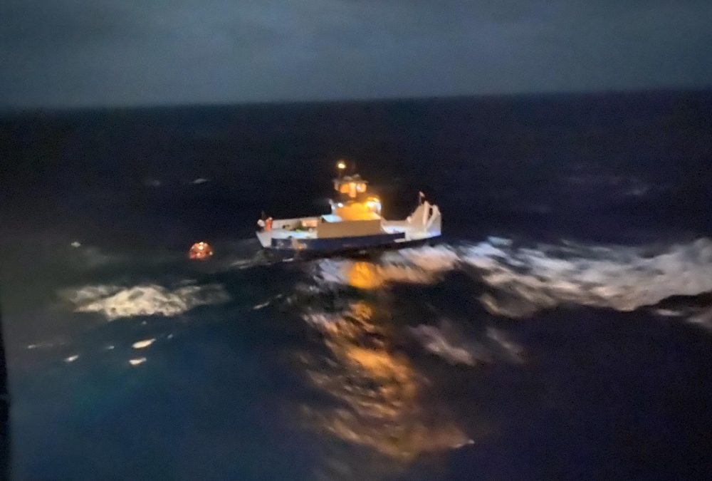 USCG Rescues 3 From Tugboat Gulf Man Andros Island Bahamas