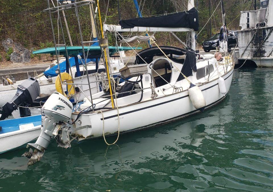 "U K Captain K.P. Pearson of SV ""UMZUNGU"" Contact Trinidad Coast Guard"