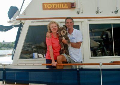 Eddie & Glenn Tuttle, on M/V Tothill