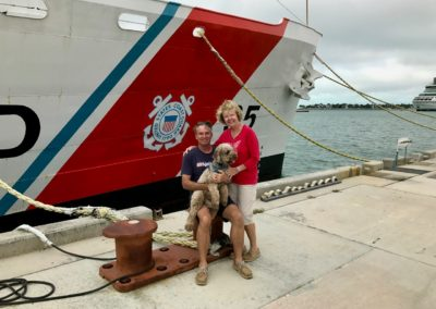 Glenn & Eddie Tuttle, BoatWatch.org owners-USCG-cutter