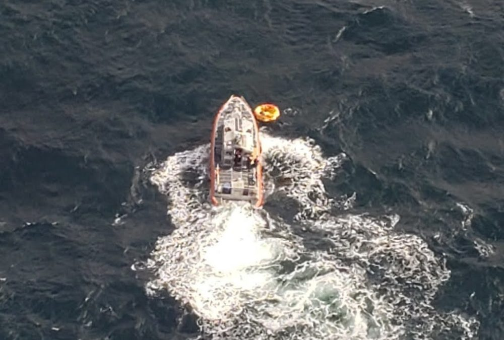 USCG Rescues 3 From Life Raft After Boat Sinks Off Cumberland Island