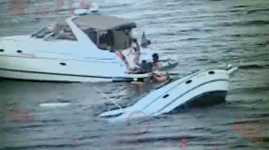 USCG Rescues 10 From Sinking Boat Michigan Grand Traverse Bay