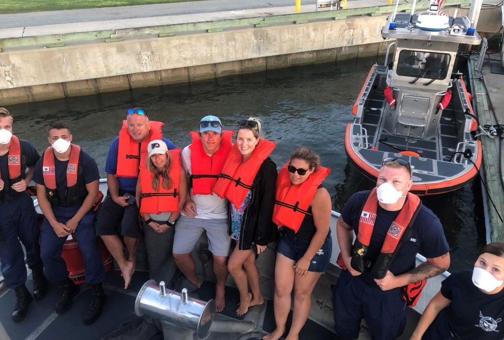 USCG & Fishing Vessel Rescue Six Boaters Off Ocean City, Maryland