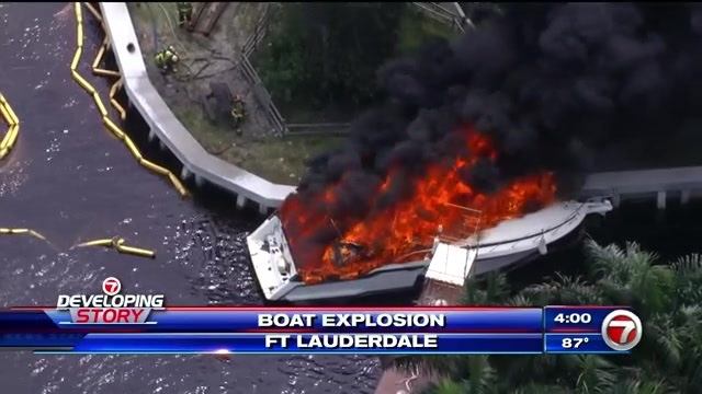 Six Hurt In Boat Explosion Ft. Lauderdale