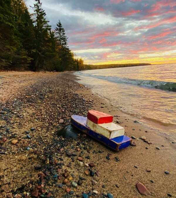 Toy boat Washes Onto Shores Of Lake Superior 27 Years After Launch