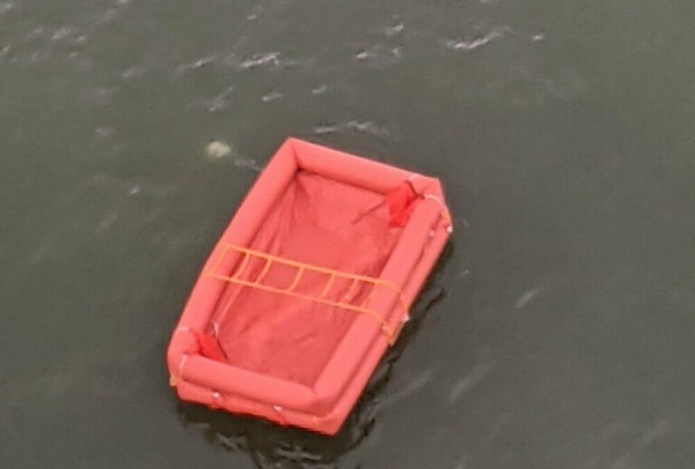 Liferaft Found Offshore of Buxton, North Carolina