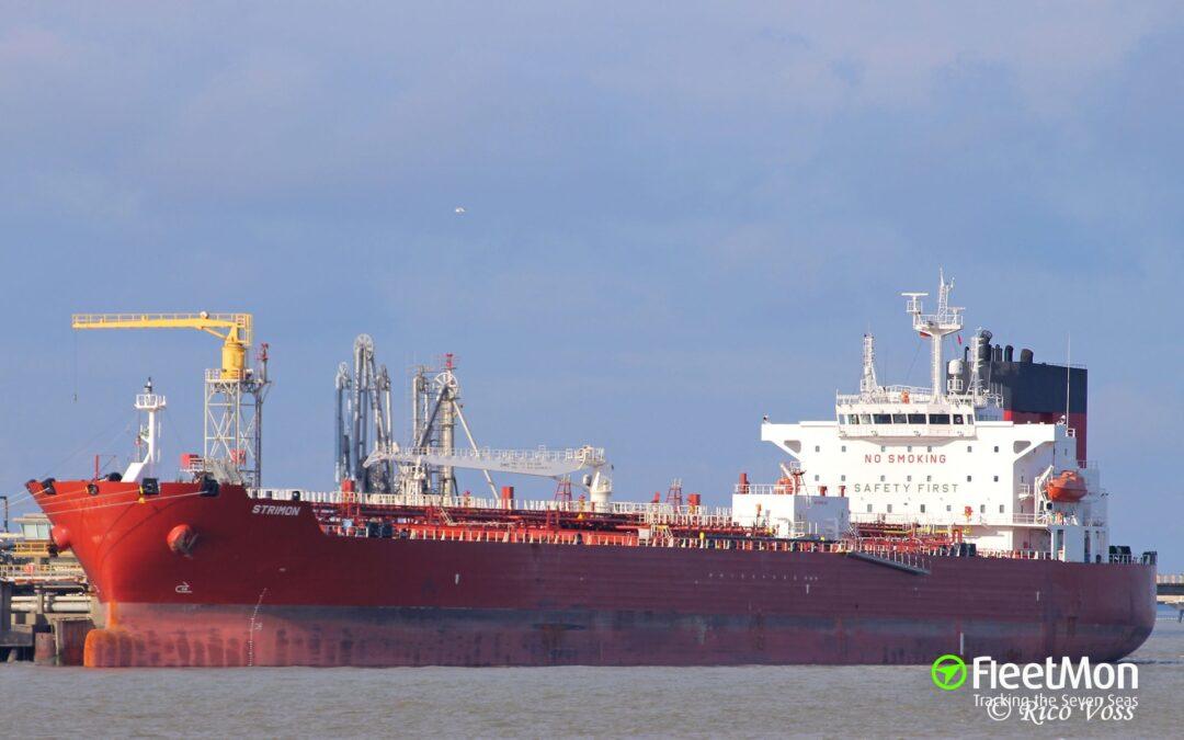 Oil Tanker Strimon Aids Sailing Vessel At Sea