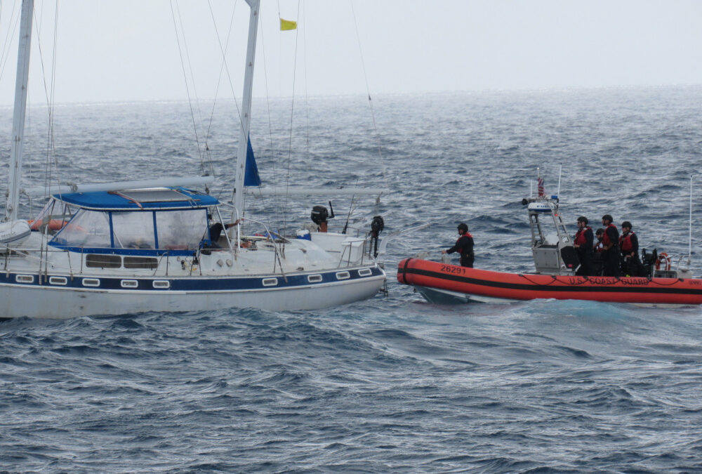 SV Wahu Assisted By USCG Off Cabo Rojo, Puerto Rico