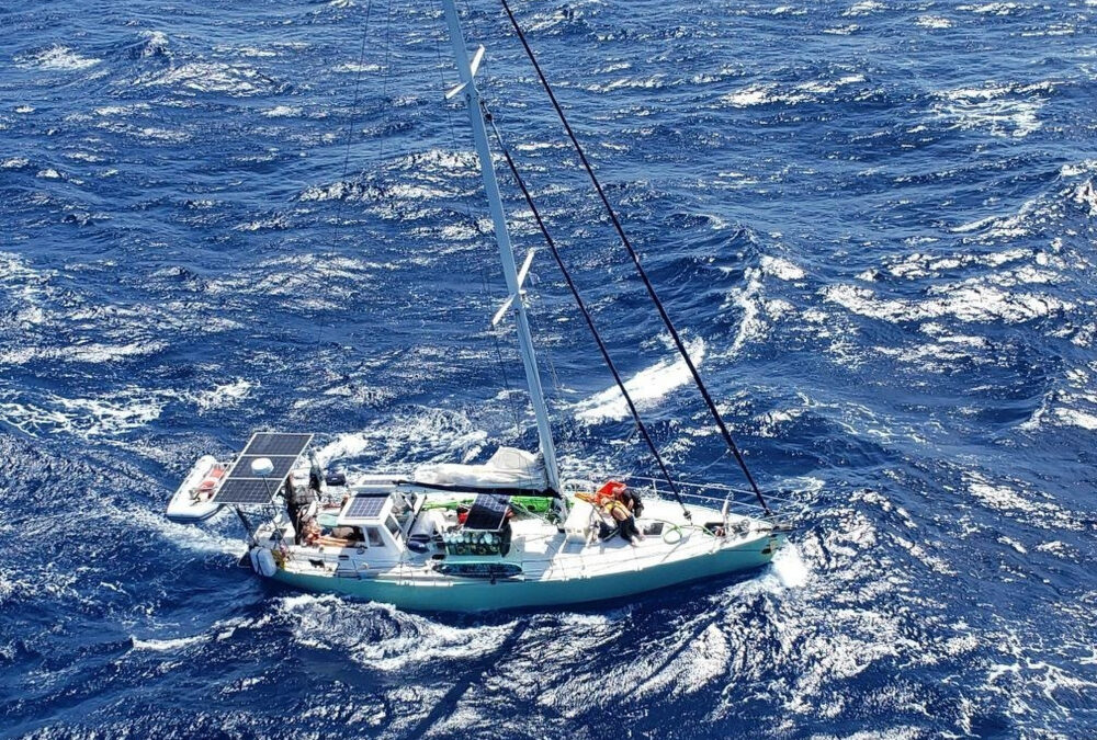 USCG Rescues Danish Flagged SV ZOMA With 8 Persons On Board Taking On Water Off Puerto Rico