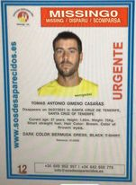 Interpol Bolo For Sailor Tomas Gimeno with Two Kidnapped Children, Tenerife, Spain