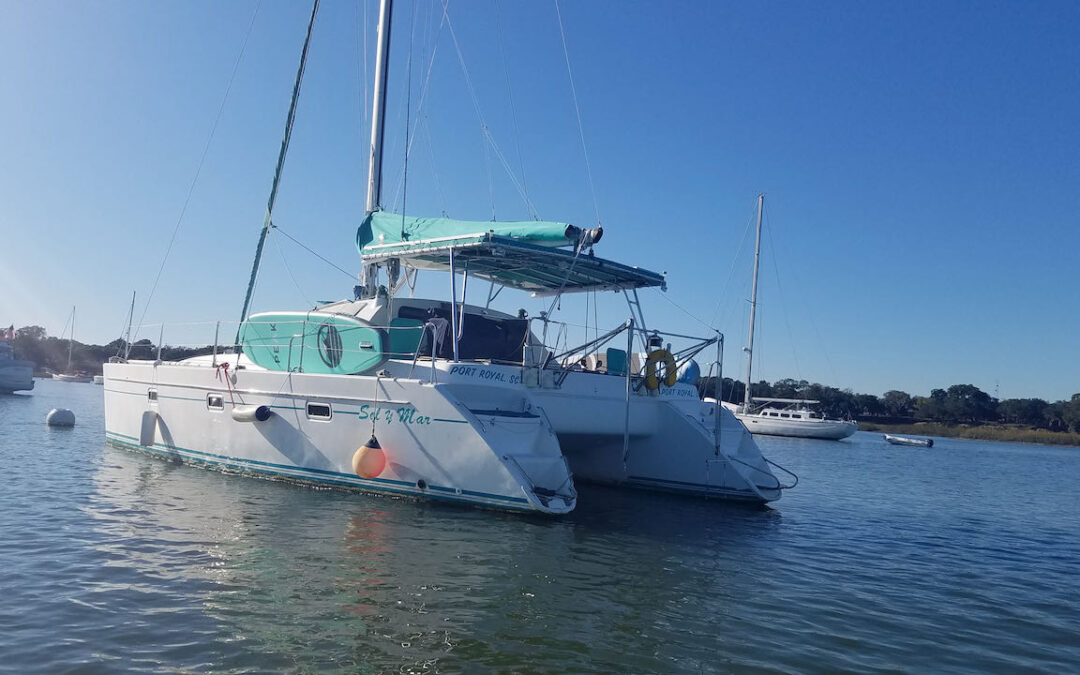 Stolen Catamaran Recovered in marsh south of Beaufort, South Carolina