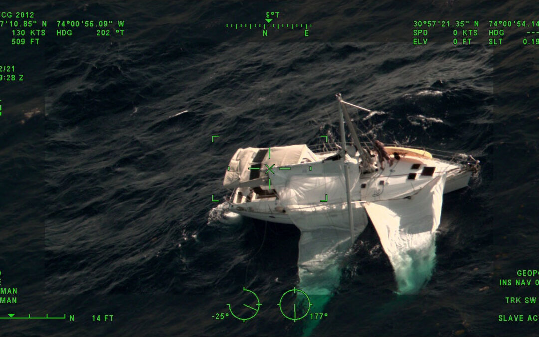 Rescue of Captain S/V Fidelity Dismasted 375 NM East of Jacksonville Florida