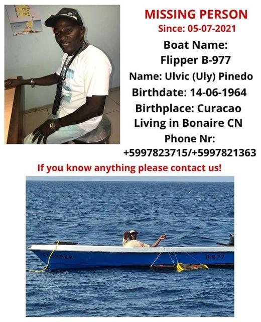 BOLO for F/V Flipper Missing From Bonaire, ABC's