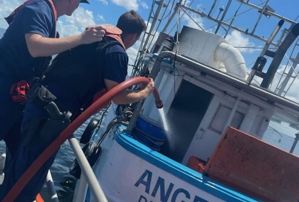 USCG Rescues Two from Boat Fire St. Petersburg, Florida