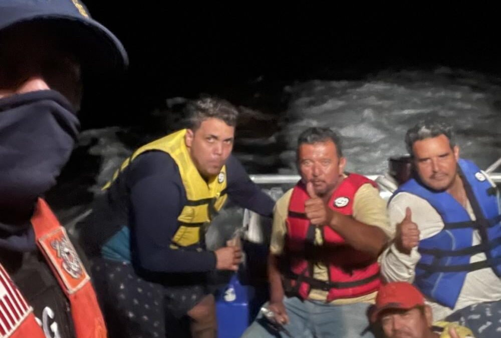 USCG Key West Rescues 4 Mexican Fishermen After Drifting for Days